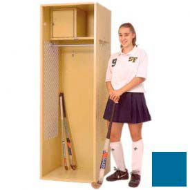 Penco 6WFD31-806 Stadium® Locker With Shelf & Security Box,24x24x76, Marine Blue, All Welded