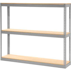 """Record Storage Rack Gray Without Boxes 72""""W x 15""""D x 60""""H"""