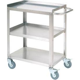 "Stainless Steel Utility Cart 24""L x 16-1/4""W x 33""H 400 Lb. Cap."