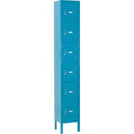 Global™ Locker Six Tier 12x12x12 6 Door Ready To Assemble Blue