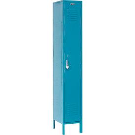 Paramount® Locker Single Tier 15x18x72 1 Door Ready To Assemble Blue