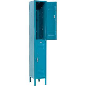 Paramount® Locker Double Tier 12x12x36 2 Door Ready To Assemble Blue
