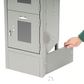 """End Base For 15""""D X 6""""H Gray Locker Pair (Left And Right)"""