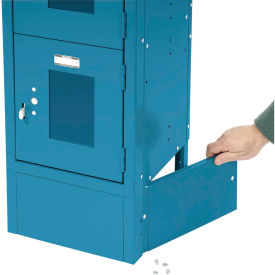 """End Base For 15""""D X 6""""H Blue Locker Pair (Left And Right)"""