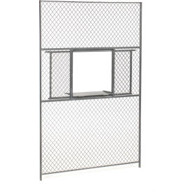 Wire Mesh Service Window for 8' Security Room