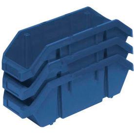 Quantum Quickpick Double Plastic Hopper Bin QP1887 8-3/8 x 18-1/2 x 7 Blue - Pkg Qty 10
