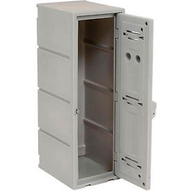 Box Plastic Locker for Double Tier - Flat Top  12X15X36 Gray