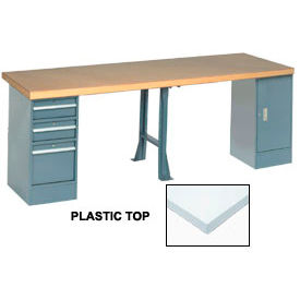 144 X 30 Extra-Long Bench - Plastic Top