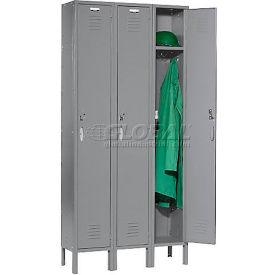 Capital™ Locker Single Tier 12x18x72 3 Door Assembled Gray