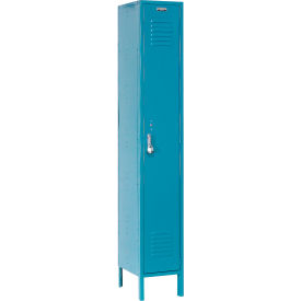 Paramount® Locker Single Tier 15x18x72 1 Door Assembled Blue