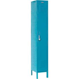 Paramount® Locker Single Tier 15x18x72 1 Door Assembled Blue