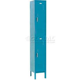Paramount® Locker Double Tier 12x12x36 2 Door Assembled Blue