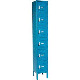 Paramount® Locker Six Tier 12x12x12 6 Door Assembled Blue