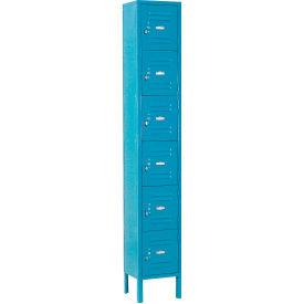 Paramount® Locker Six Tier 12x15x12 6 Door Assembled Blue