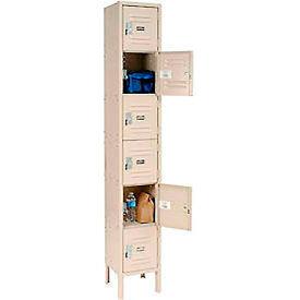 Paramount® Locker Six Tier 12x15x12 6 Door Assembled Tan