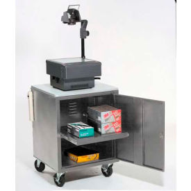Global Industrial® Gray Security Audio Visual Cart 500 Lb. Capacity
