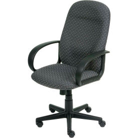 High Back Designer Fabric Chair - Gray