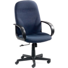 High Back Designer Fabric Chair - Navy