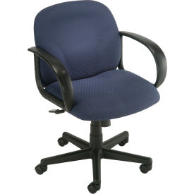 Office Chair - Designer Fabric - Mid Back - Navy