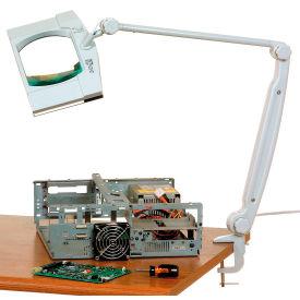 "Deluxe Rectangular Fluorescent Magnifier Lamp, 3 Diopter, 7"" x 4.5"" Lens"