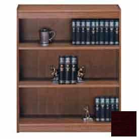 """Unassembled 48""""H Contemporary Square Edge Bookcase Mahogany"""