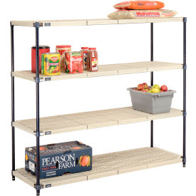 Vented Plastic Shelving 60x18x54 Nexelon Finish