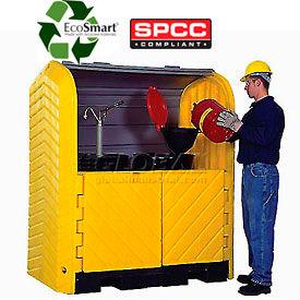 Ultra-Hard Top P2 Plus® 2 Drum Outdoor Locking Containment Unit 9612 - No Drain