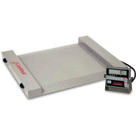"""Detecto RW-500 Digital Floor Scale 500lb x 0.5lb 40-1/2"""" x 32-1/2"""" Plat. W/ Built In Ramps, Wheels"""