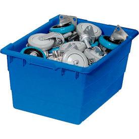 Quantum Cross Stack Nest Tub TUB2417-12 - 23-3/4 x 17-1/4 x 12 Blue - Pkg Qty 6
