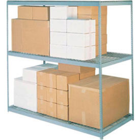 """Wide Span Rack 96""""W x 48""""D x 84""""H With 3 Shelves Wire Deck 800 Lb Capacity Per Level"""