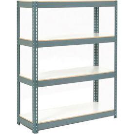 "Extra Heavy Duty Shelving 48""W x 18""D x 60""H Gray 4 Shelves, 1500 lbs. Capacity Per Shelf, Gray"