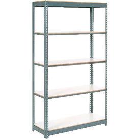 "Extra Heavy Duty Shelving 48""W x 24""D x 96""H With 5 Shelves, 1200 lbs. Capacity Per Shelf, Gray"