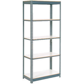 "Extra Heavy Duty Shelving 48""W x 12""D x 96""H With 7 Shelves, 1500 lbs. Capacity Per Shelf, Gray"
