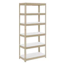 "Extra Heavy Duty Shelving 36""W x 24""D x 84""H With 6 Shelves, 1500 lbs. Capacity Per Shelf, Tan"