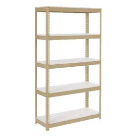 Extra Heavy Duty Shelving 36x18x96 Tan With 5 Shelves 1500 Lb Capacity Per Shelf