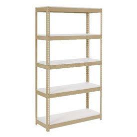 "Extra Heavy Duty Shelving 36""W x 18""D x 96""H With 5 Shelves, 1500 lbs. Capacity Per Shelf, Tan"