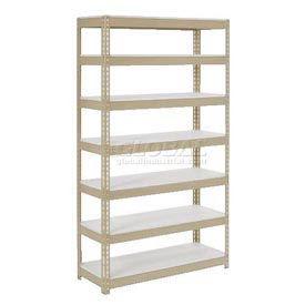 "Extra Heavy Duty Shelving 48""W x 12""D x 96""H With 7 Shelves, 1500 lbs. Capacity Per Shelf, Tan"
