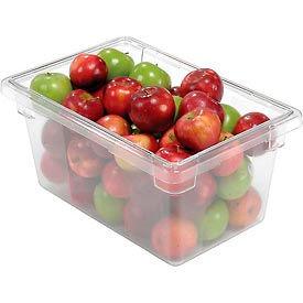 Rubbermaid 3304-00 Clear Plastic Box 5 Gallon 18 x12 x 9 - Pkg Qty 6