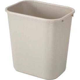 7 Gallon Rubbermaid Plastic Wastebasket - Beige