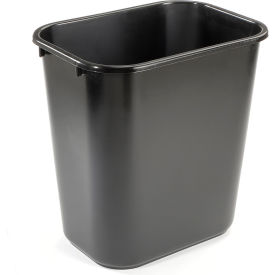 7 Gallon Rubbermaid Plastic Wastebasket - Black