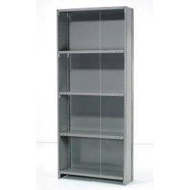 "Penco Steel Shelving 20 Ga 36""WX12""DX87""H Closed Clip Style 5 Shelf Starter"