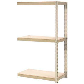 "Expandable Add-On Rack 48""W x 18""D x 84""H Tan With 3 Levels Wood Deck 1500lb Cap Per Level"