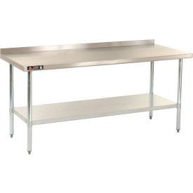 "Aero Manufacturing AS30X30 30""W x 30""D 18 Gauge Stainless Steel Workbench W/ Backsplash"