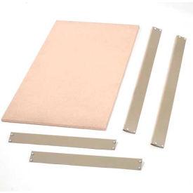 """Bulk Rack Shelf Wood Deck 60""""W x 48""""D Tan"""