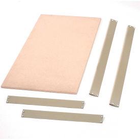 """Bulk Rack Shelf Wood Deck 96""""W x 48""""D Tan"""