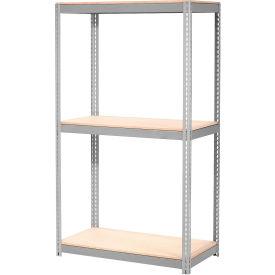 "Expandable Starter Rack 72""W x 36""D x 84""H Gray With 3 Level Wood Deck 750lb Cap Per Level"