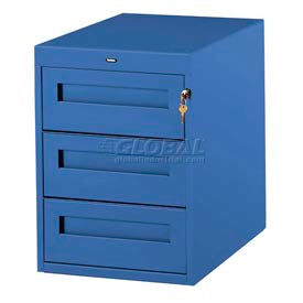 3 Utility Drawer Pedestal For 30 Inch Wide Tech Bench Blue