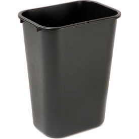 10 Gallon Rubbermaid Plastic Wastebasket - Black