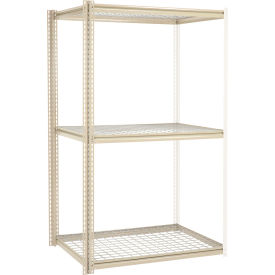 """High Capacity Add-On Rack 48""""W x 24""""D x 84""""H With 3 Levels Wire Deck 1500 Lb Cap Per Level"""