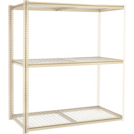 """High Capacity Add-On Rack 72""""W x 24""""D x 84""""H With 3 Levels Wire Deck 1000 Lb Cap Per Level"""